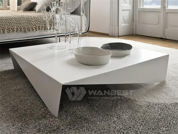 Solid Surface Square Design Beauty Coffee Table For Sale