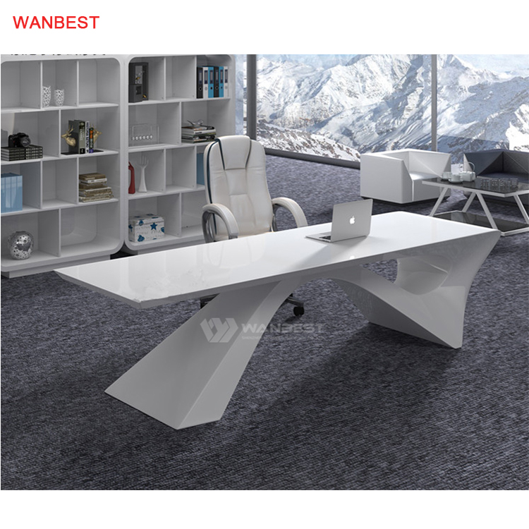 Marble Stone High Quality White Popular Company Office Furniture Desk