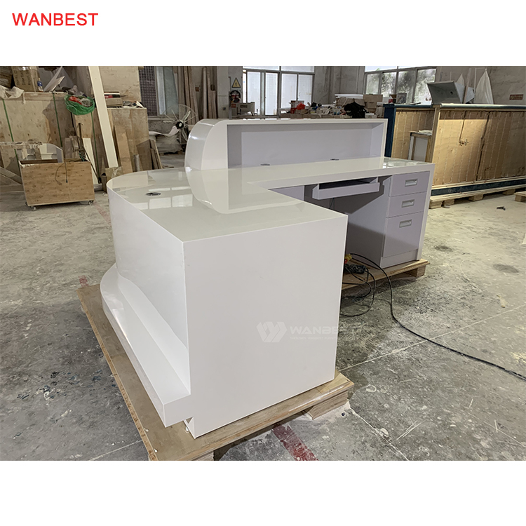 2 Person Hot Sale Client Customized High Quality Hotel Unique Reception Desk