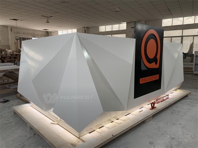 The side of LED light reception desk