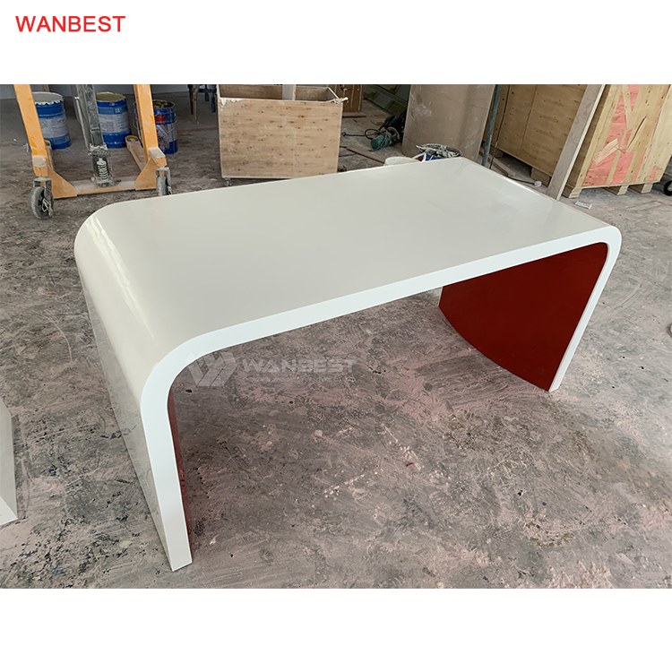 Solid surface simple design office desk