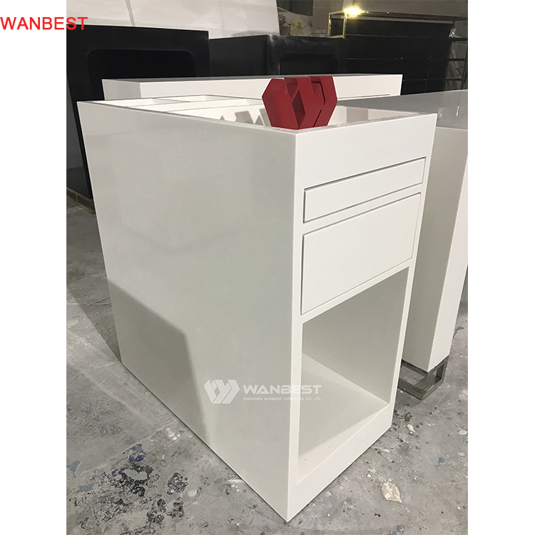 White acrylic health material cabinet