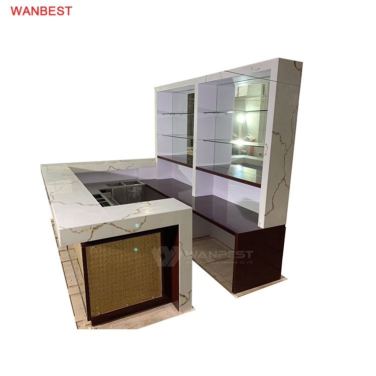 Acrylic Solid Surface Modern Design Bar Checkout Counter Fantastic Looking