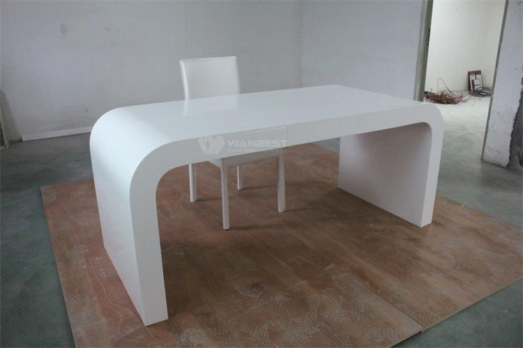 Artificial stone office desk with chair