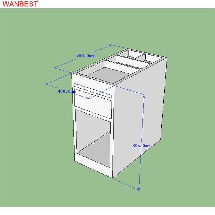 The 3D drawing of small counter