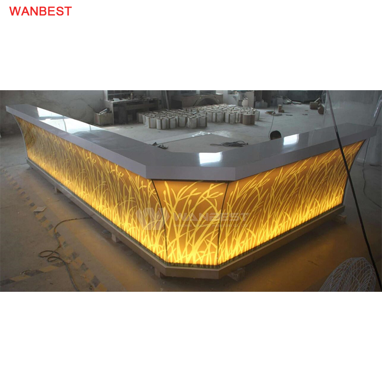 L Shape LED Night Commercial Bar Counter