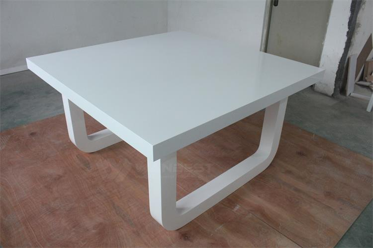 Solid surface durable dining table