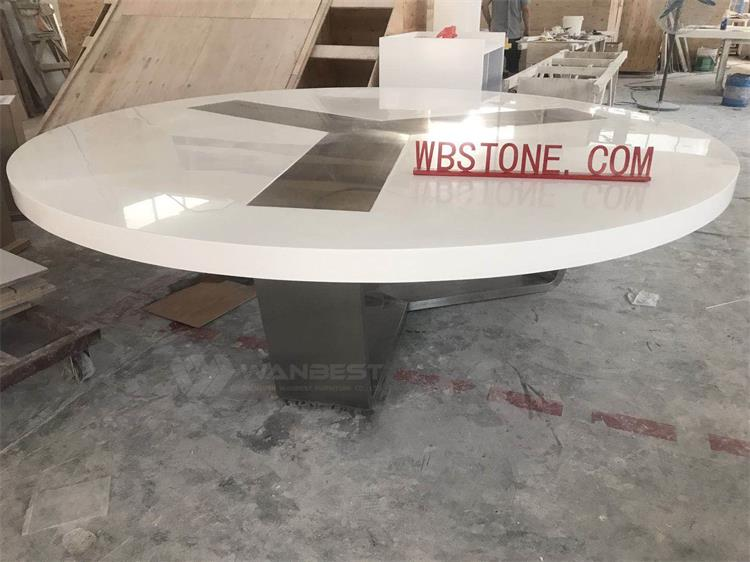 Acrylic solid surface conference table