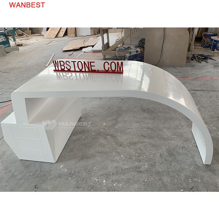 Acrylic stone white office desk