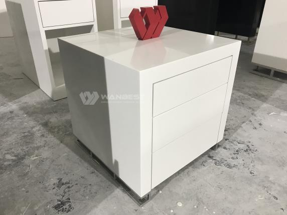 Square Acrylic White Beauty Salon Commercial Display Counter