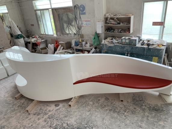 A style of art unusual design CEO's office reception counter