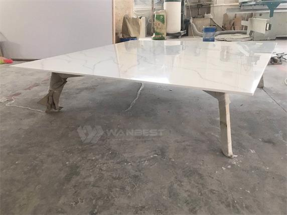 Acrylic Solid Surface Stainless Steel Coffee Table -Malaysia