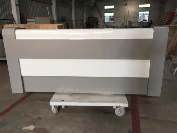 High Gloss Artificial Stone Modern Furniture Front Counter