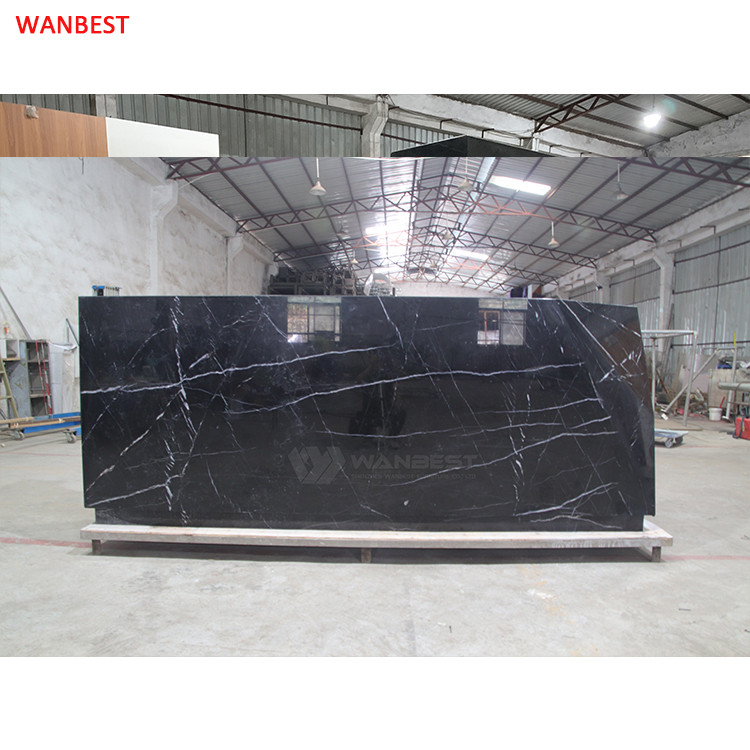 Nature marble stone high quality luxury design hotel hall front counter furniture for sale