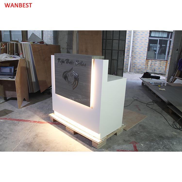 Reception desk with LED light