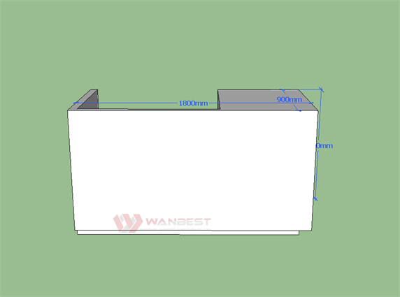 I Shape Acrylic Solid Surface Matte Modern Deaign Reception Desk
