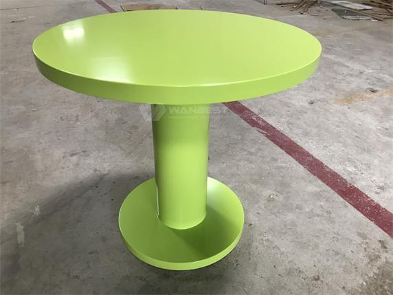 Green acrylic solid surface high quality modern dining table