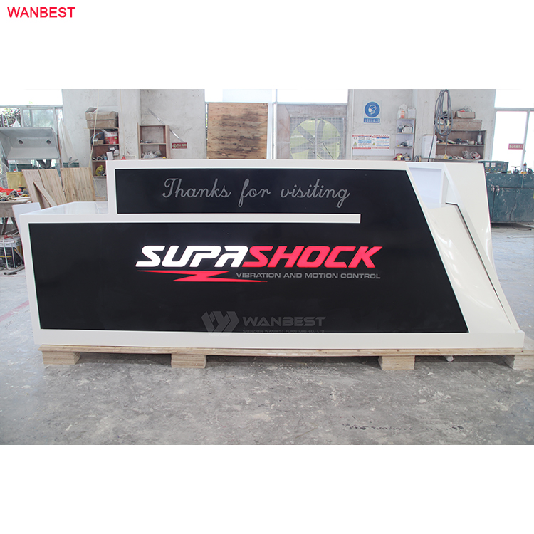 SupaShock large company front counter acrylic solid surface modern design reception desk