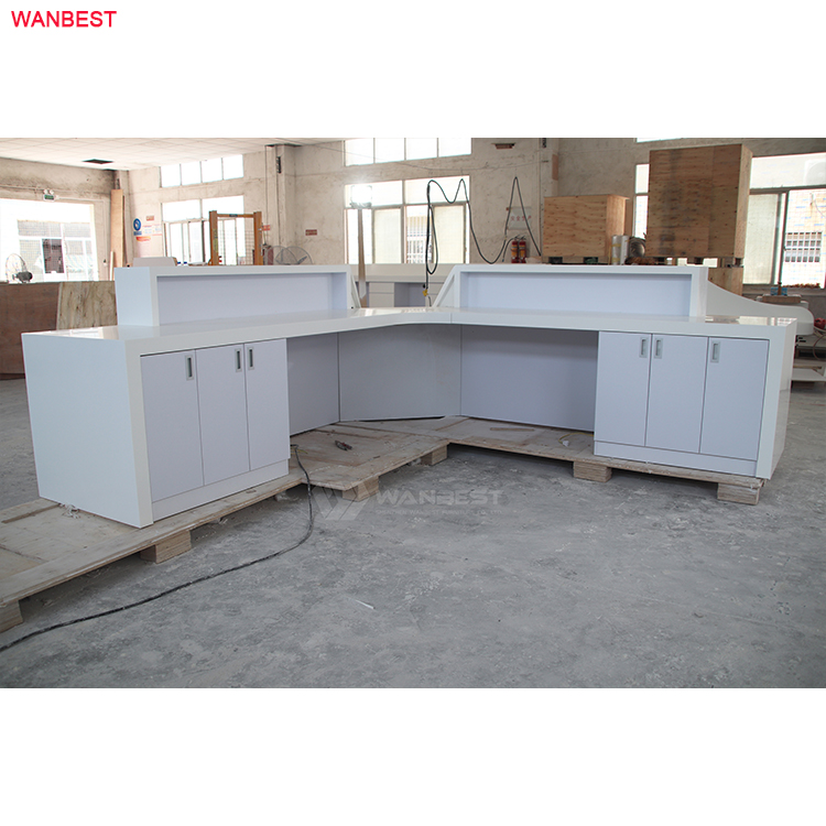 Top selling acrylic solid surface  furniture Hospital clinic salon reception desk