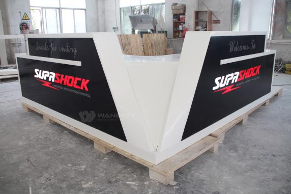 Australia customized large unique design solid surface reception desk
