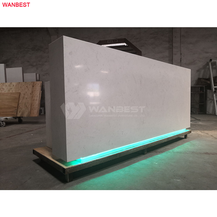 Alibaba top sale good fame WANBEST artificial stone furniture reception desk