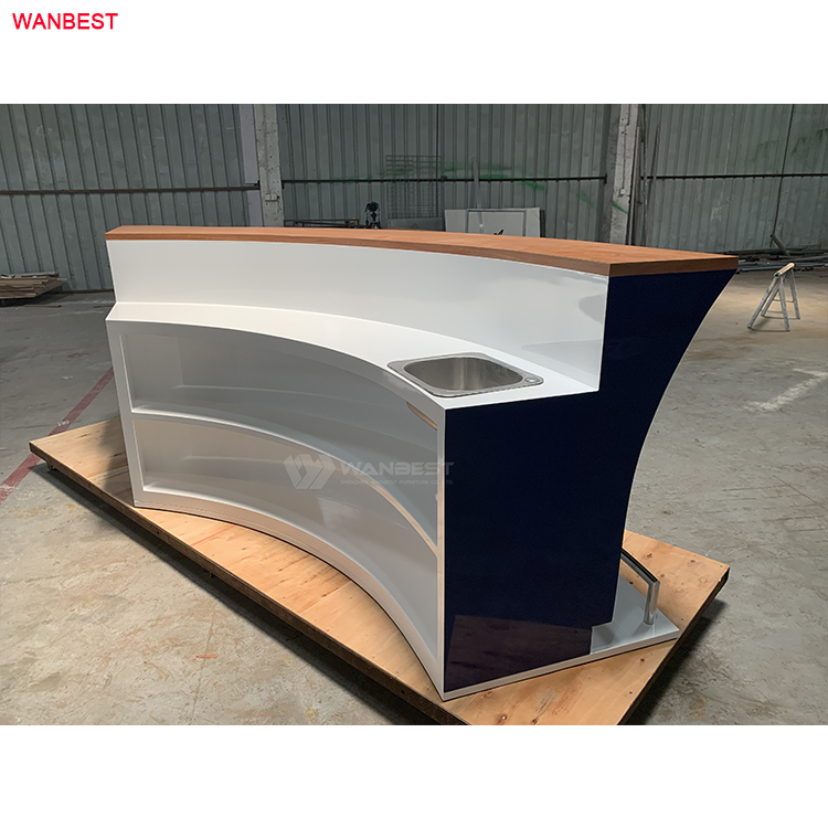 Hot selling boat shape bar counter