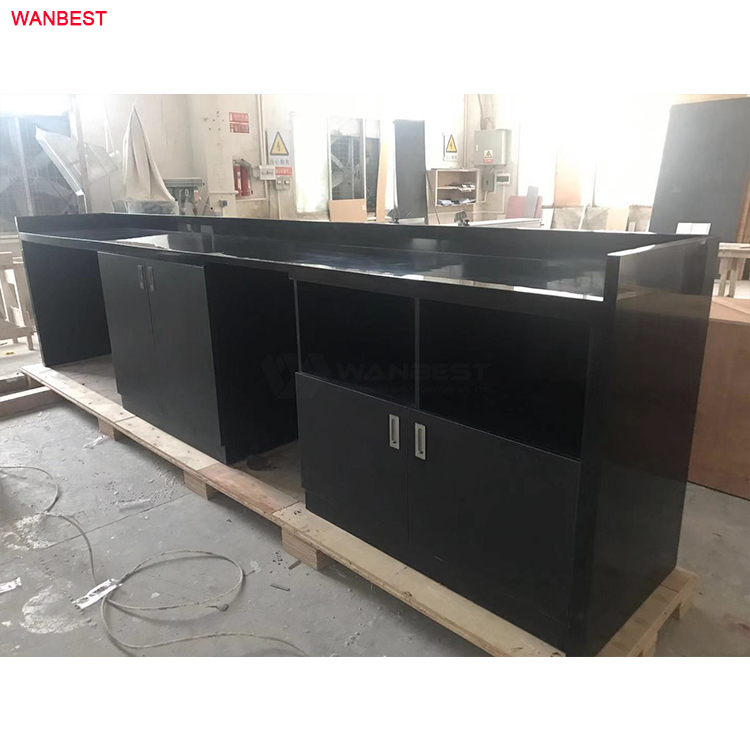 back artificial stone reception desk