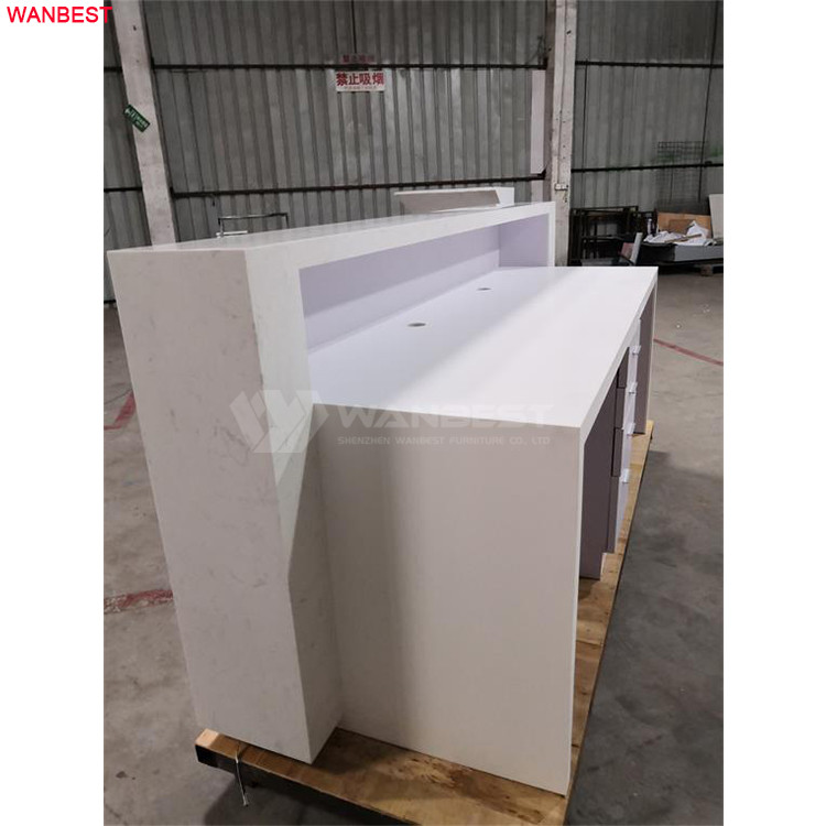 Two computer line hole 2.5 long meter best marble stone reception furniture counter