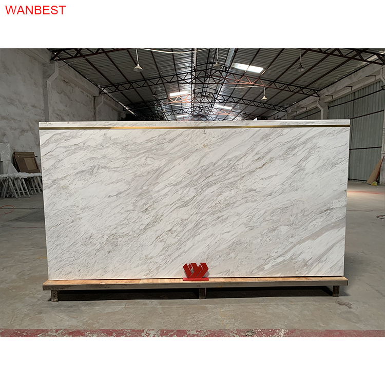 Nature marble stone modern reception desk furniture