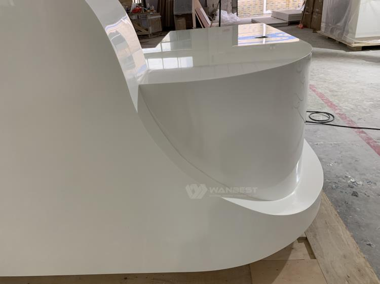 China Factory Supply Marble Stone Best Material Modern Design Canada Reception Desk