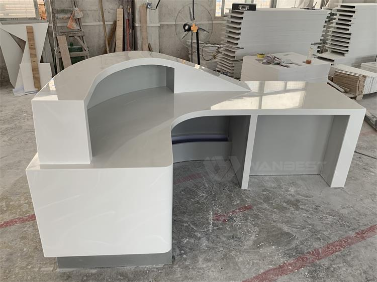 Acrylic solid surface reception desk