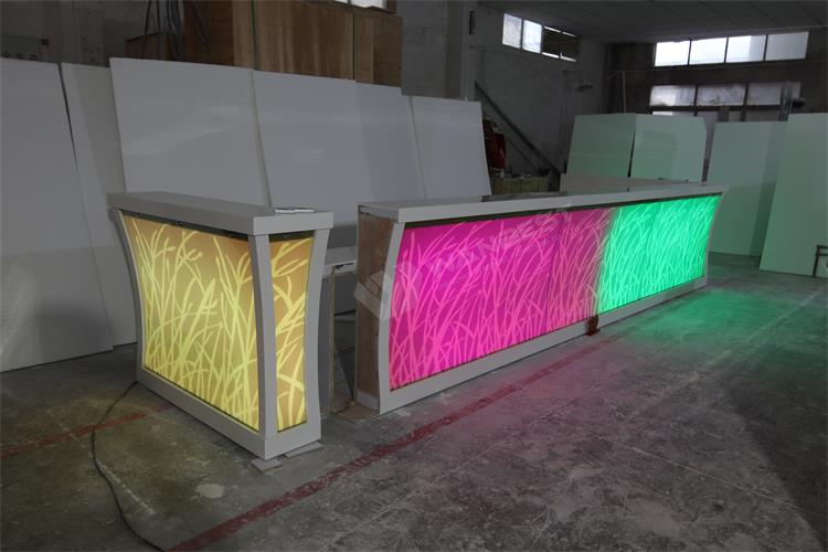 RGB LED light bar counter
