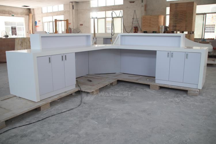 Unique Design Solid Surface Reception Desk