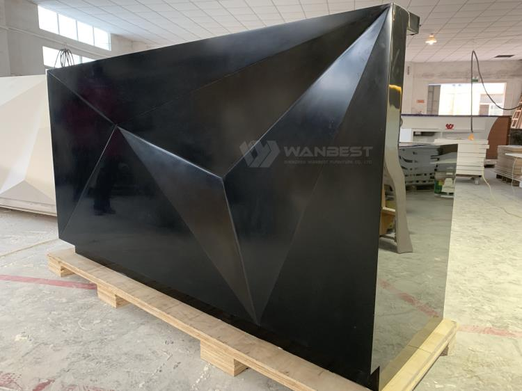 Customized Hight Quality Black Office Small Standing Salon Reception Desks
