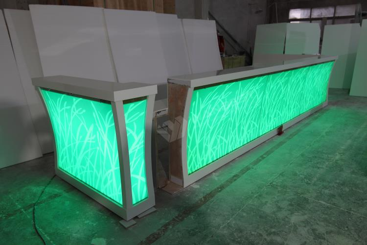 Artificial solid surface customized bar counter
