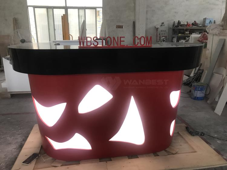 Acrylic Solid Surface Drinking Illuminate Bar Counter Furniture