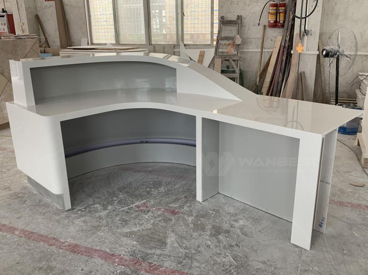 Pure acrylic solid surface luxury design front counter