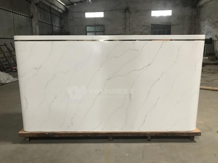 pure acrylic solid surface reception desk