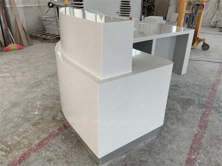 white reception desk design