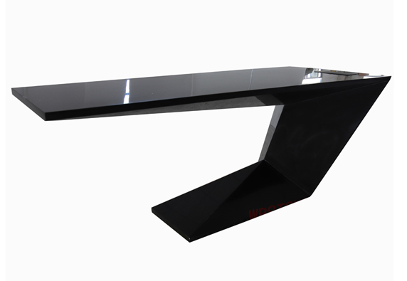 Z shape elegant design high gloss CEO office desk