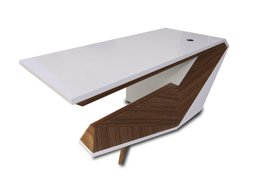 C shape office New style generation stone office desk