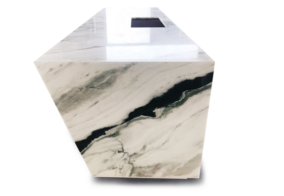 Nature marble top kitchen island custom size