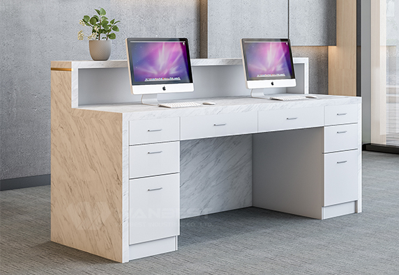Modern design high quality nature marble reception desk furniture