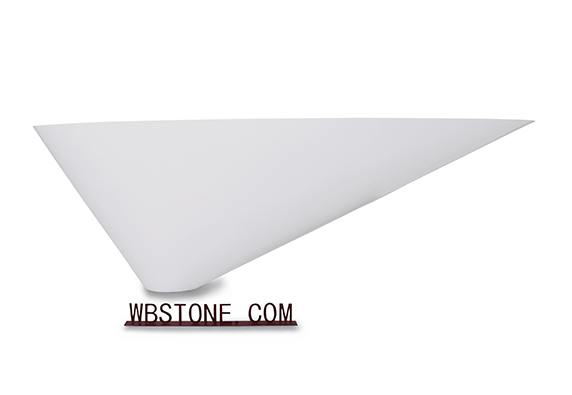 marble cone shape office apartment reception desks